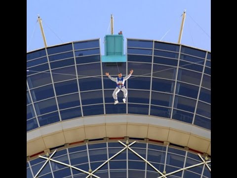 Stratosphere Las Vegas Bungee Jumping Video Youtube