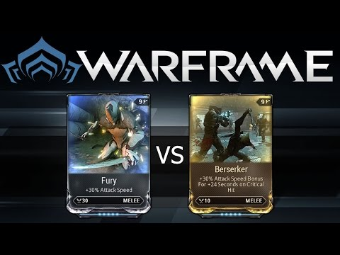 Warframe Fury vs Berserker
