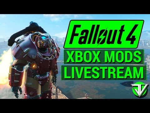 FALLOUT 4: Xbox One CONSOLE MODS Stream! (Weapons, Quests, Armor, and More!)