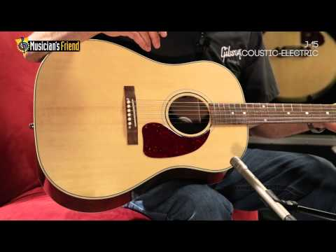 Gibson J-15 Acoustic-Electric Guitar, demo'd by Don Ruffatto