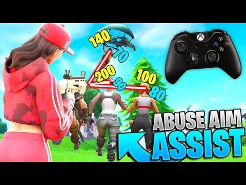How To ABUSE New & Legacy Aim Assist In Fortnite! (Controller Fortnite - PS4 + Xbox)