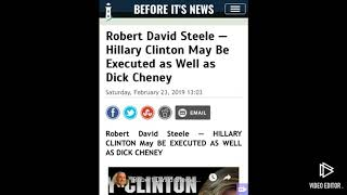 Robert David Steele : Hilary Clinton may be executed as well as dick Cheney!