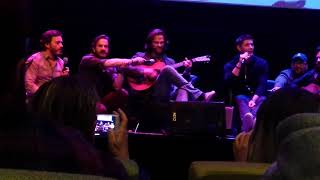 Jared, Jensen and the cast of Supernatural playing Free Falling.