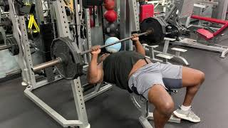 Bench Lockouts ... rebuilding my strength