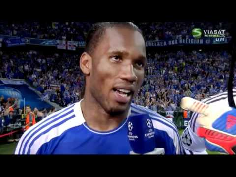 Interview with Didier Drogba and Petr Cech after Champions League Final.