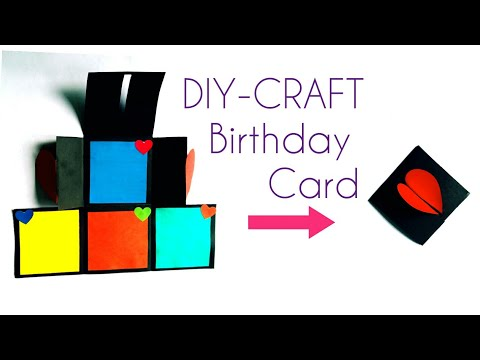 "Mini Birthday card 🎂 DIY- birthday card idea""easy craft""___[DIY-paper craft]#15"