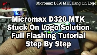micromax d320 hang logo solution