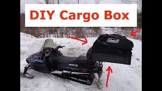 ice fishing make a cargo box for a snowmobile
