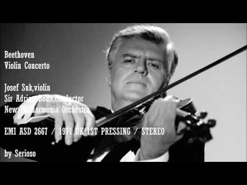 Beethoven, Violin Concerto , Josef Suk,violin