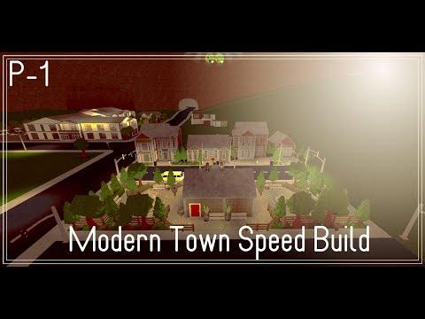 ROBLOX | BloxBurg | Modern Town | Speed Build | P-1