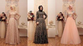 An Nahar 2017 Birbirinden Zarif ve Şık Tesettür Abiye Elbise Modelleri 2/2