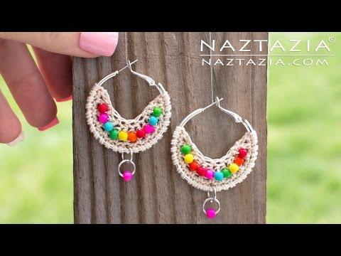 Crochet Boho Bead Earrings - Bohemian Beaded Earring - DIY Tutorial