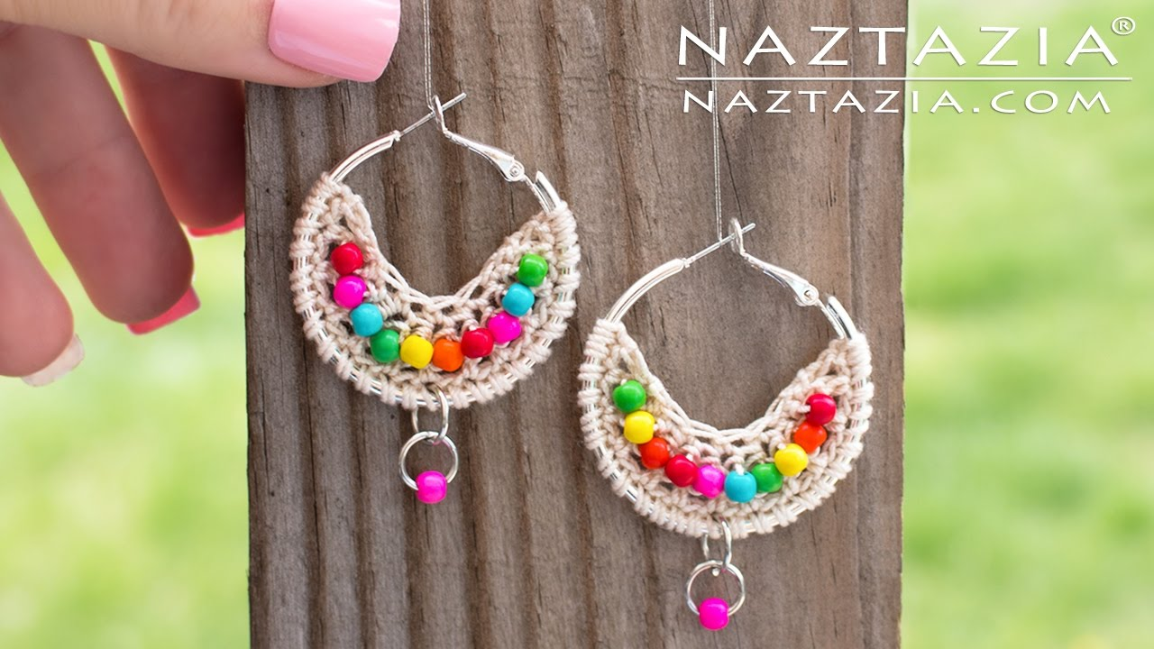 4824f223eefa Crochet Boho Bead Earrings - Bohemian Beaded Earring - DIY Tutorial ...