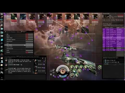 Eve Online - Shooting Down a Thanatos Capital Ship