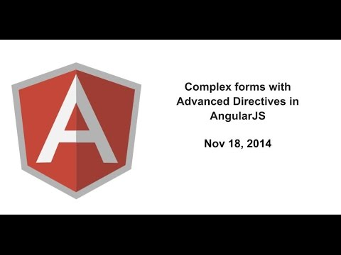 Complex forms with Advanced Directives in AngularJS