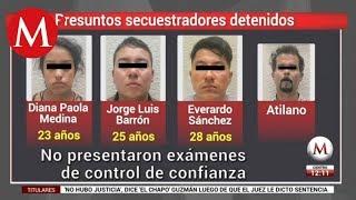 Secuestradores detenidos estaban en proceso para integrarse a la GN