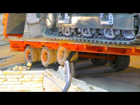 HEAVY RC TRANSPORT AND DANGER WORK! COOL RC ACTION AND NICE MODELS FOR THE RC STREET REPAIR!
