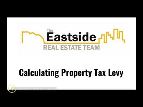 How to calculate property tax levy increase.