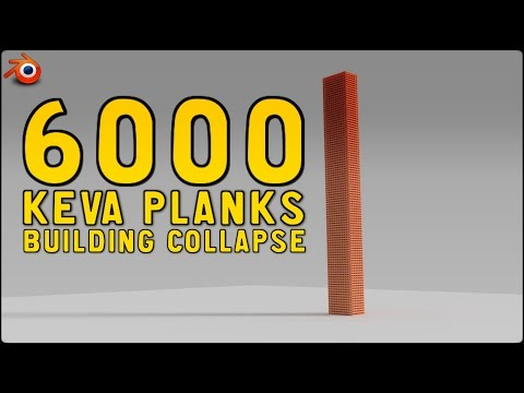Blender 2.76 - 6800 Keva Planks Building Collapse