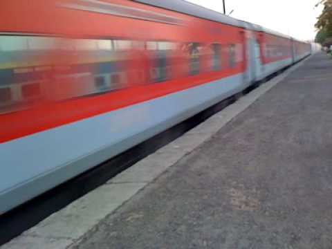 Rajdhani Express at its Full Speed