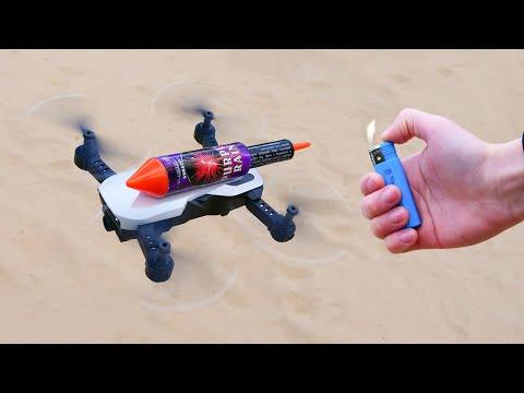 Experiment: RC Drone vs XXL Rocket !