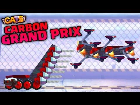 C.A.T.S BEST GRAND PRIX EVER  GETTING CARBON PARTS  Crash Arena Turbo Stars