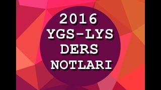 YGS-LYS Ders  Notları Buyrun İzleyelim 2