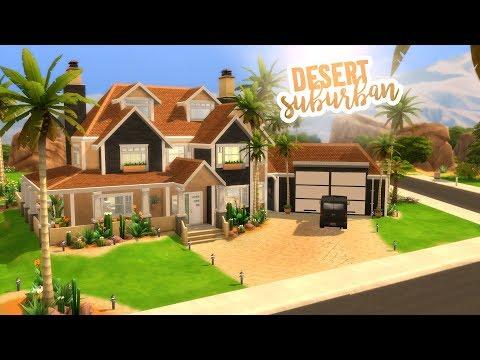 DESERT SUBURBAN HOUSE | The Sims 4 Speed Build