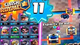I encounter a level 11 SUPER op!   Clash Royale   Rubinho vlc