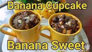 Banana cupcake | banana sweet | banana dish | banana sweet dish | banana muffin