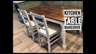 DIY Kitchen Table Makeover