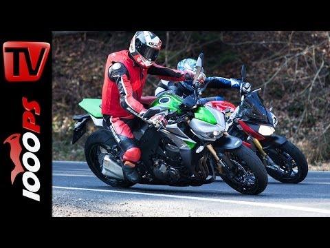 Vergleich | BMW S 1000 R vs Kawasaki Z1000 -NakedBike Duell 2014