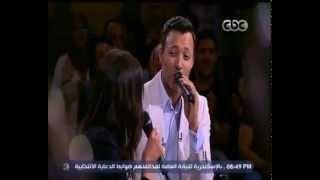 #معكم_منى_الشاذلي | أحمد فهمي مع زوجته الفنان أميرة فراج  - اغنية ابريق الشاي