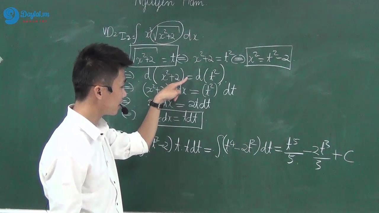 Hướng dẫn giải bài tập nguyên hàm