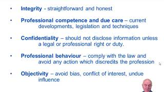 Professional Ethics - ACCA Audit and Assurance (AA)