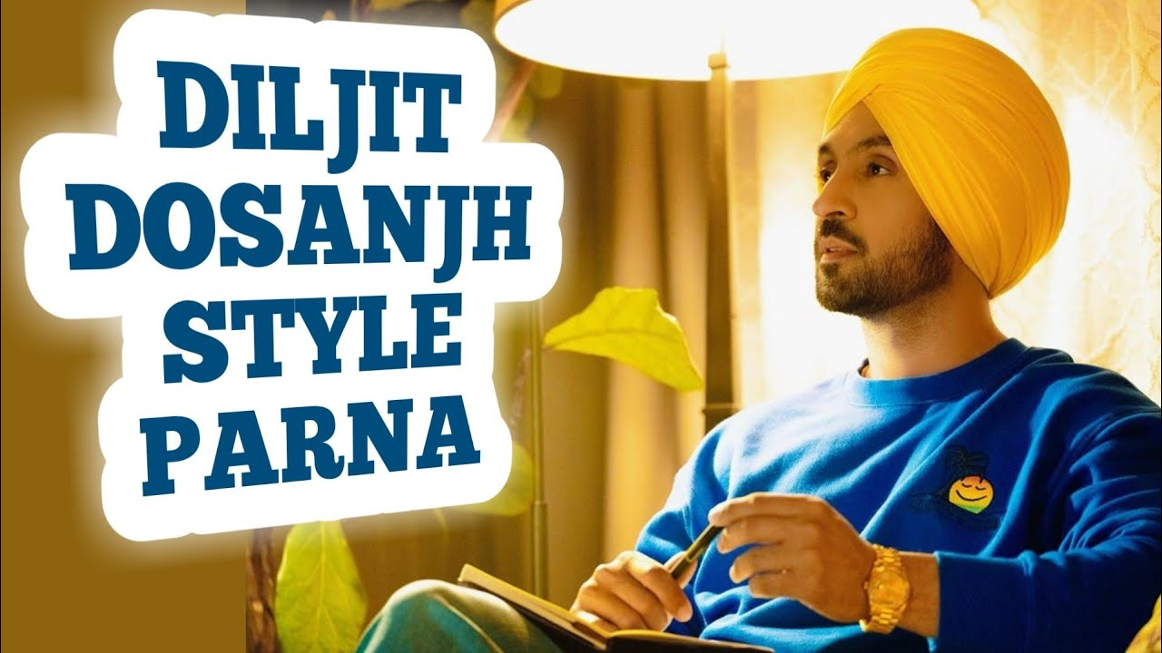 Download Diljit Dosanjh Style Parna | Parna Tutorial | Quick Parna | 3.50 Meter Parna | Quick Turban