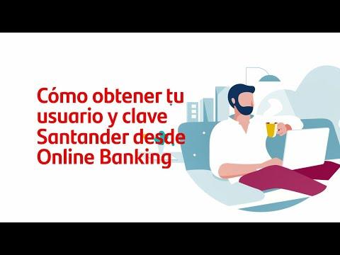 Cómo obtener tu usuario y clave Santander desde online banking.