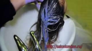 Покраска волос растяжка цвета от темного к светлому