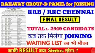 RRB Chennai Group-d Final Result