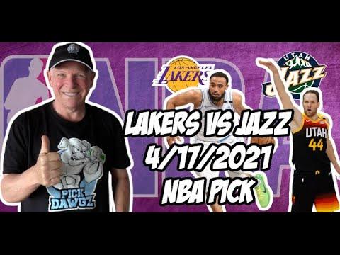Los Angeles Lakers vs Utah Jazz 4/17/21 Free NBA Pick and Prediction NBA Betting Tips