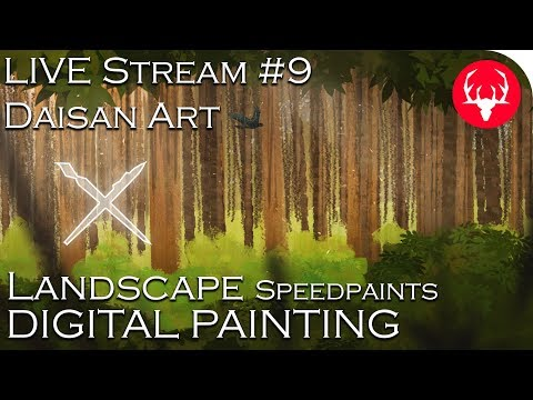Speedpaints – Landscape Painting – ☻LIVE #9 – Malarstwo Cyfrowe – Digital Painting – Daisan Art