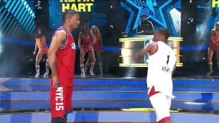 NBA All Star Celebrity Game 2015 Nick Cannon Vs Kevin Hart