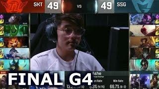 SKT vs SSG - Game 4 Grand Finals Worlds 2016   LoL S6 World Championship Samsung vs SK Telecom T1 G4