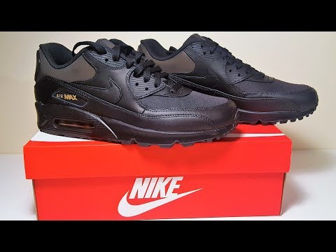 nike-air-max-90-premium-black-gold-trainers-unboxing-and-review