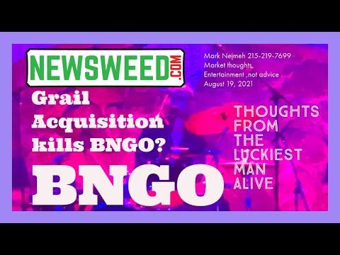 BNGO Vs Grail Vs ILMN August 19, 2021
