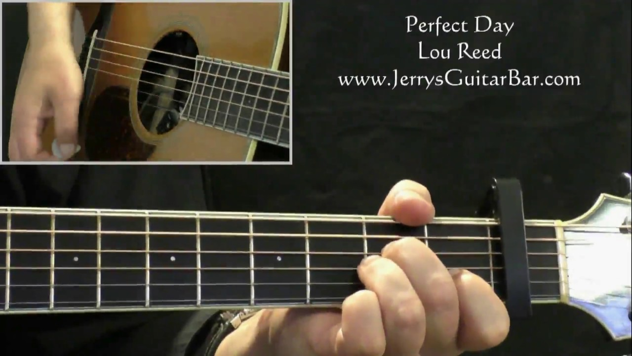 How To Play Lou Reed Perfect Day Intro Only Youtube