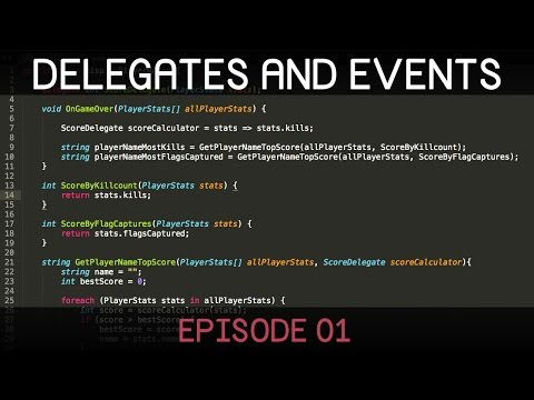 [C#] Delegates and Events (E01: delegates)