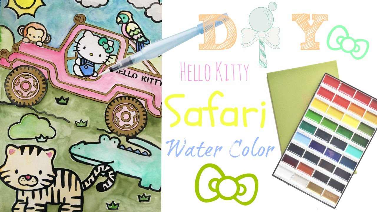 Hello Kitty Coloring Book Speed Coloring Hello Kitty Safari Scene