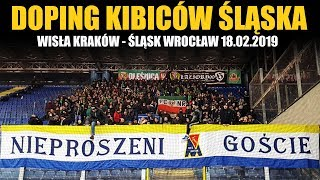 Doping kibiców Śląska: WISŁA KRAKÓW - ŚLĄSK WROCŁAW 18.02.2019