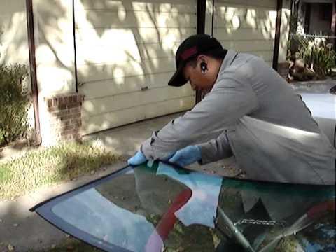 Windshield Replacement (Part 2) Lo Auto Glass Repair, Stockton CA..wmv